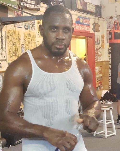 Sweaty post workout
