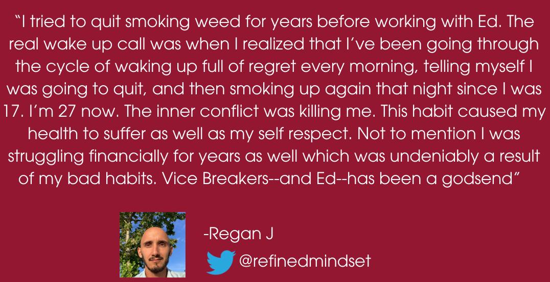 Breaking bad habits testimonial 1