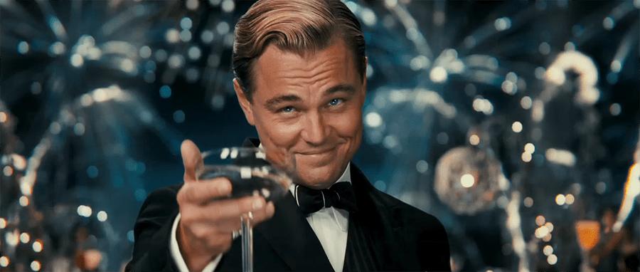 Leonardo di Caprio as Jay Gatsby