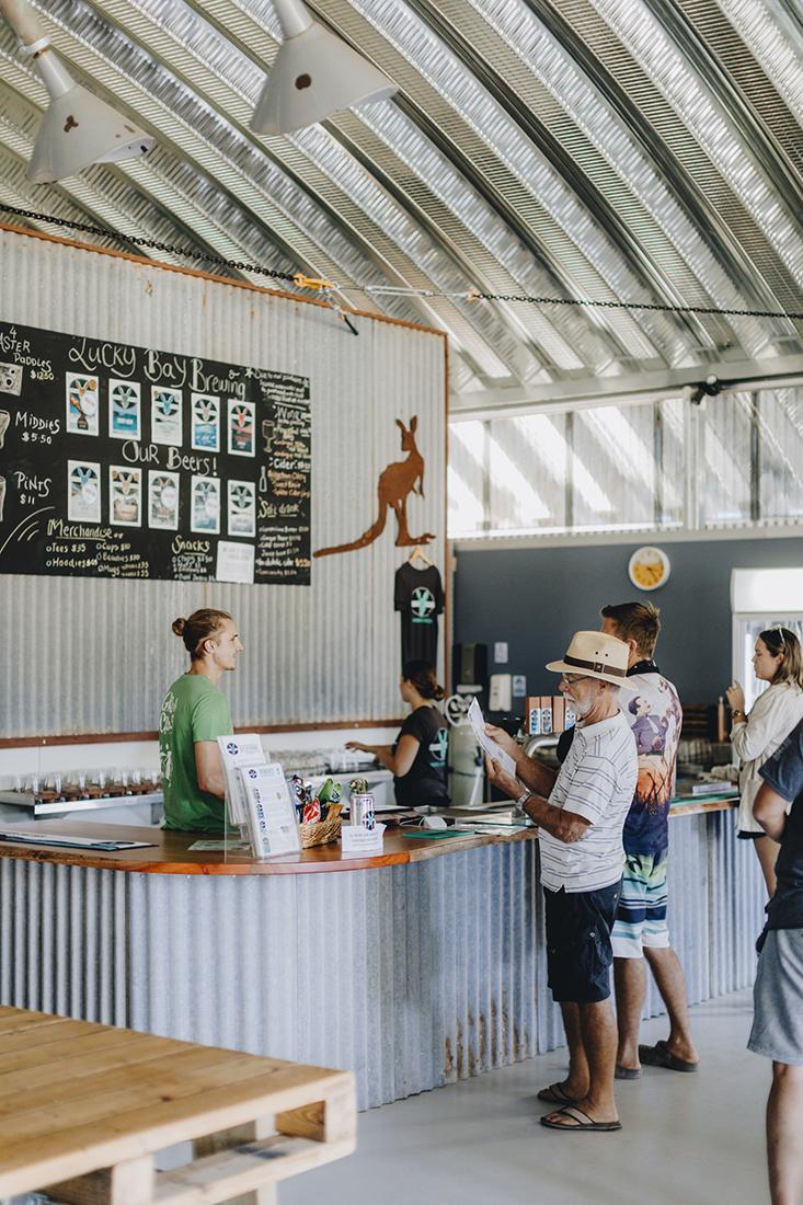 Lucky Bay Brewing Counter