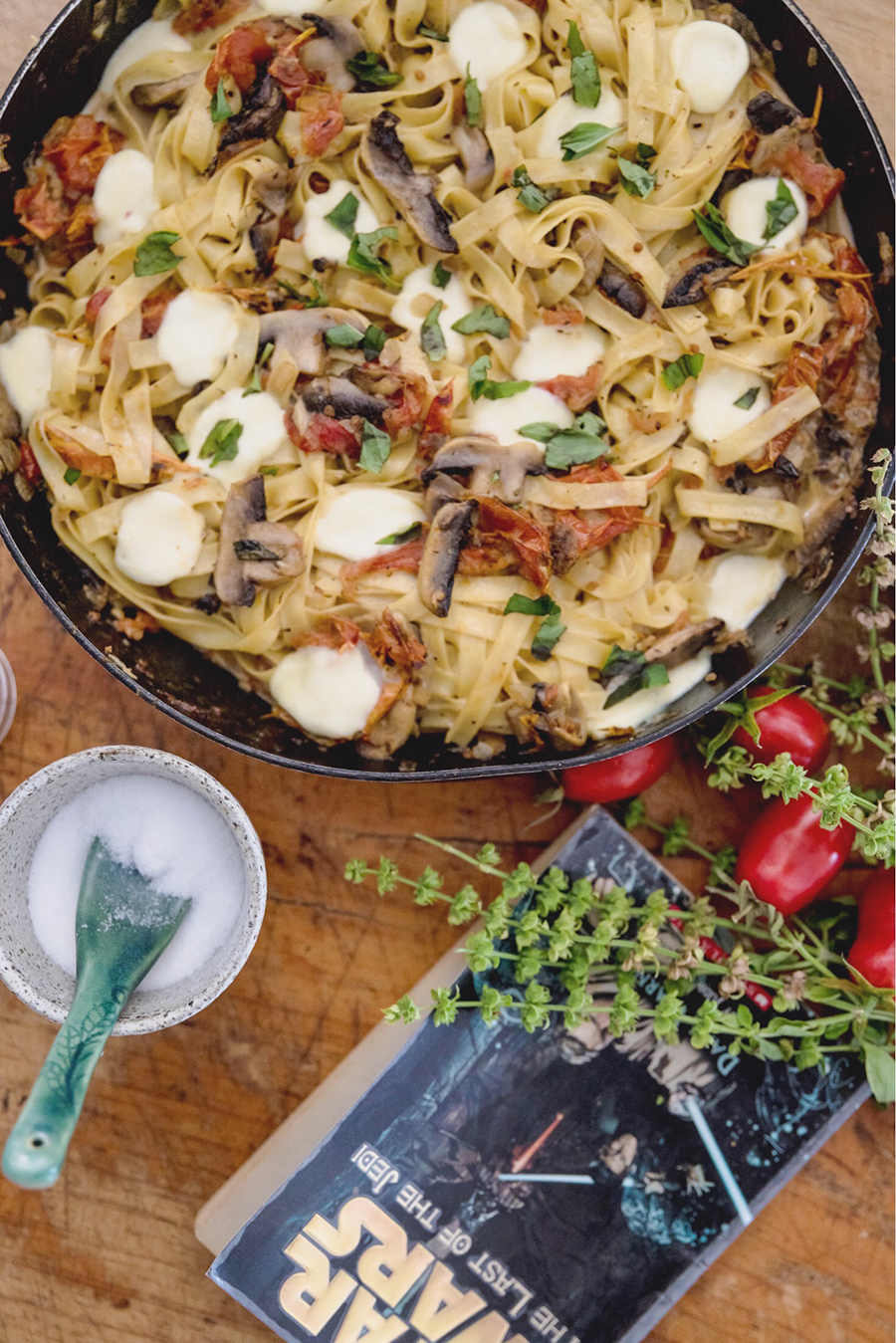 Tide Kitchen: Sun-Dried Tomato & Mushroom Boba Fett-uccine