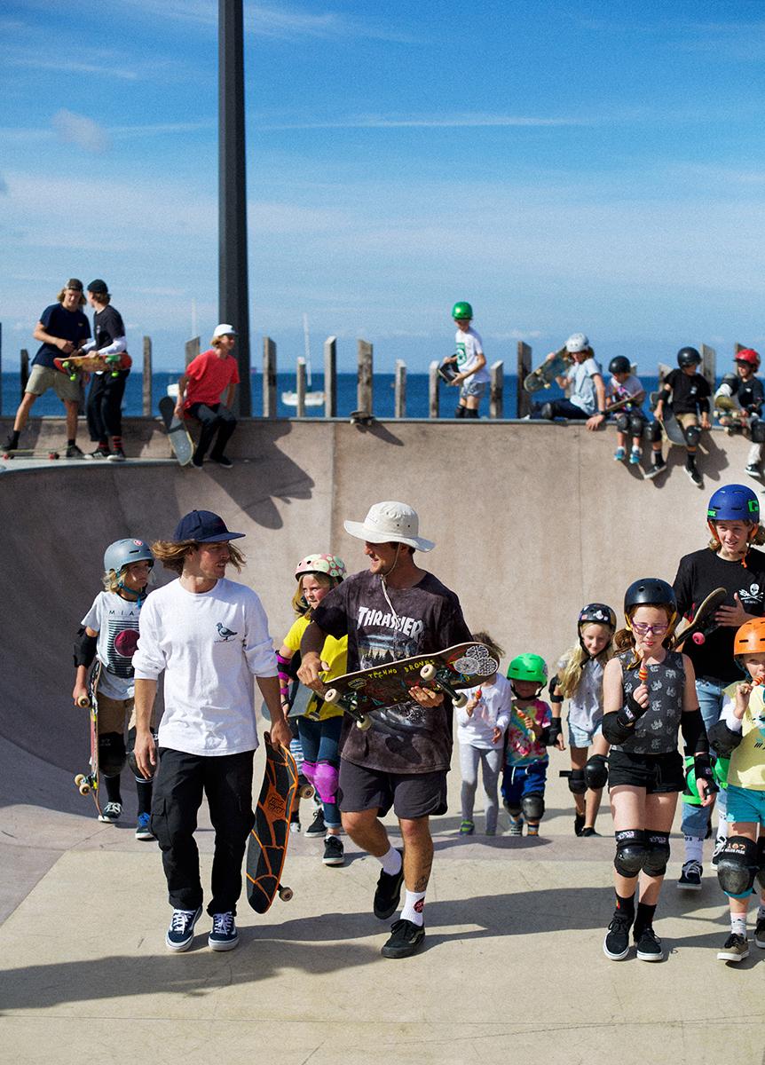 WATCH: Tailtap Skate Clinics Take Over The Esperance Skatepark