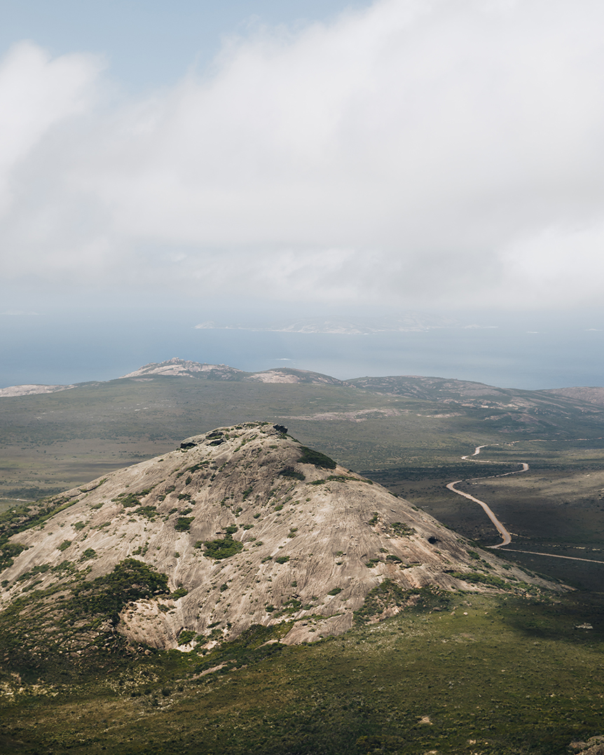 Frenchman Peak in Cape Le Grand National Park via HeliSpirit's helicopter