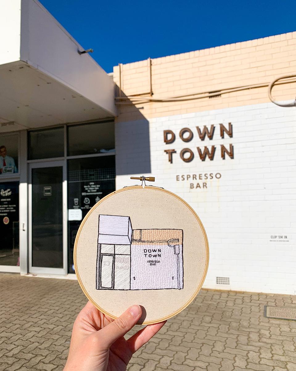 Downtown Espresso Bar by Lindsay Stitches