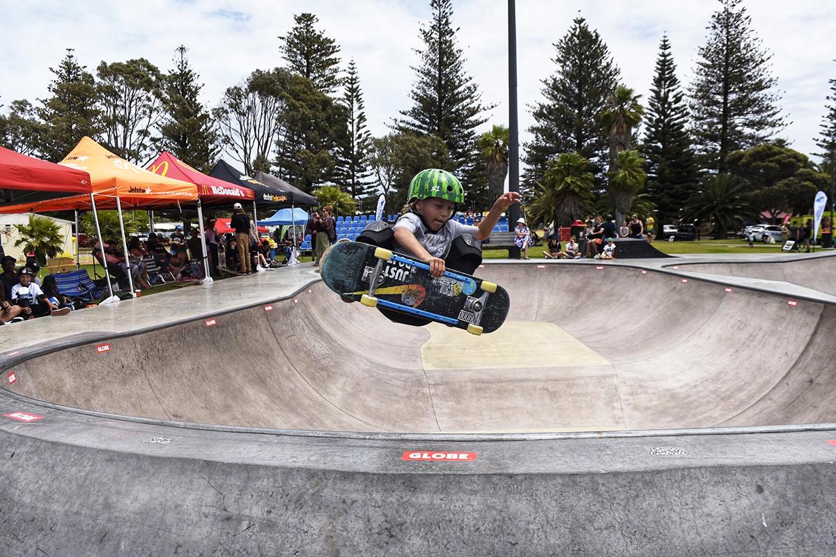 Edge of the Bay Skateboarder