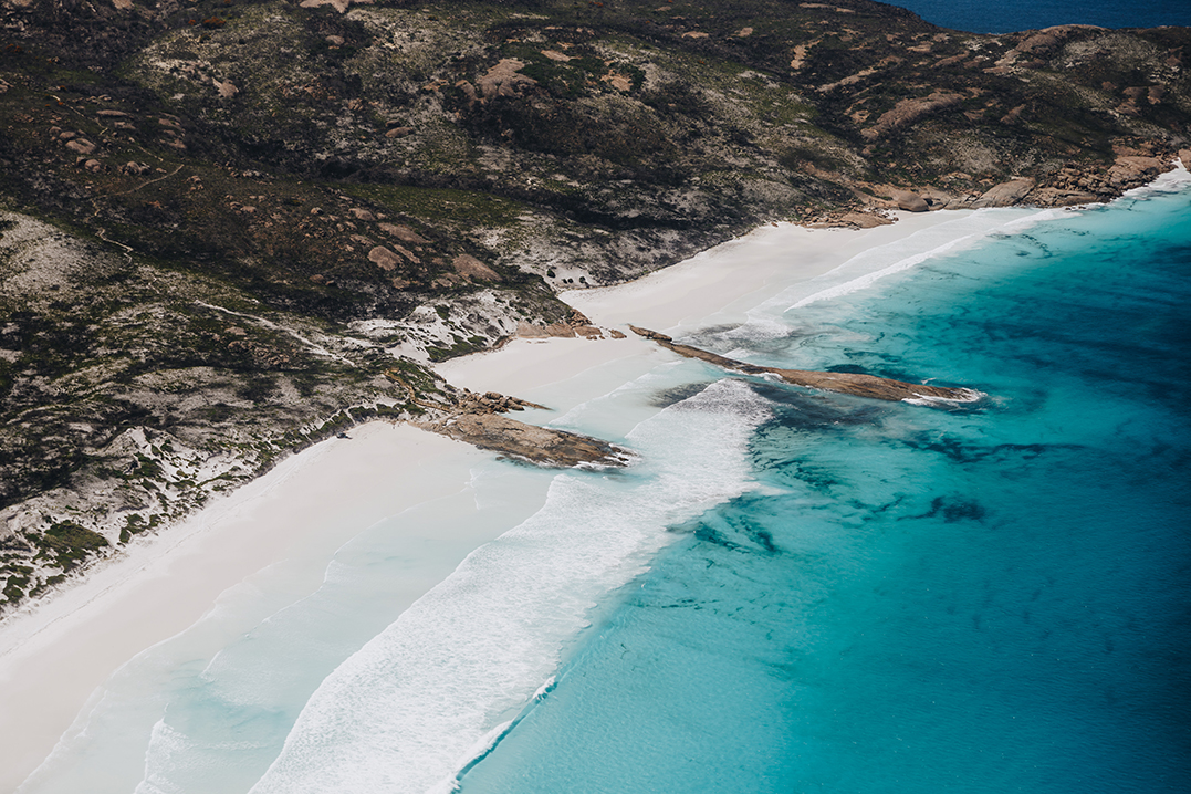 Lucky Bay - Esperance's best beaches via HeliSpirit's helicopter