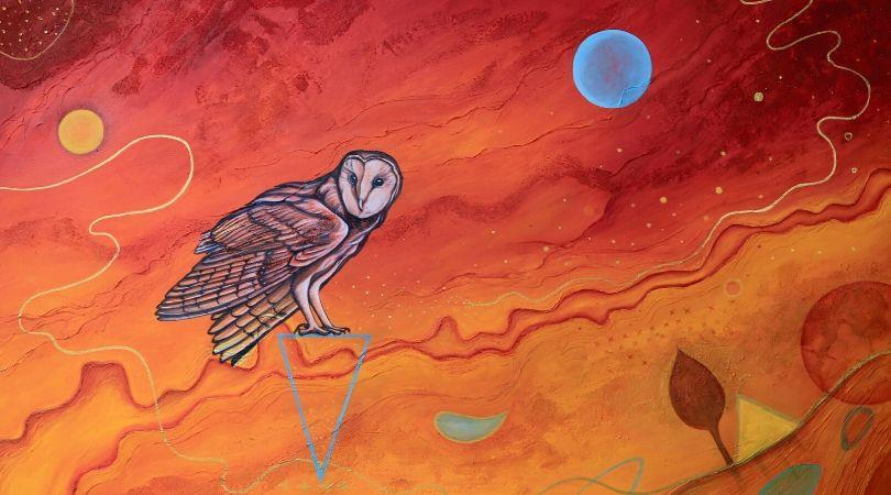 Esti Nagy's painting of an owl
