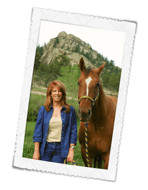 Barb Bowman with Horse