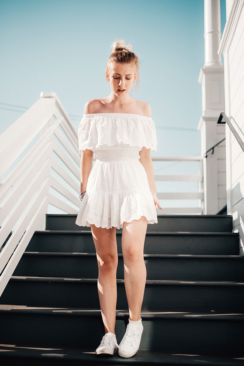 Dressed in white