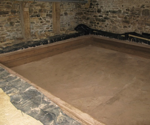 Finished cellar dig-out with concrete floor