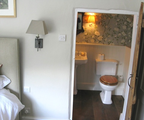 The finished en-suite dressing-room in a grade 2 listed cottage