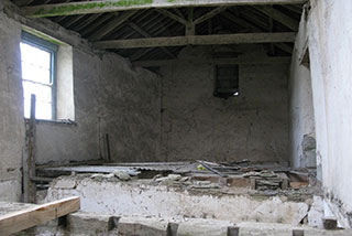 The interior before the barn restoration