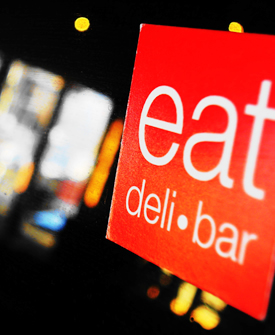 Eat Deli & Bar Sign