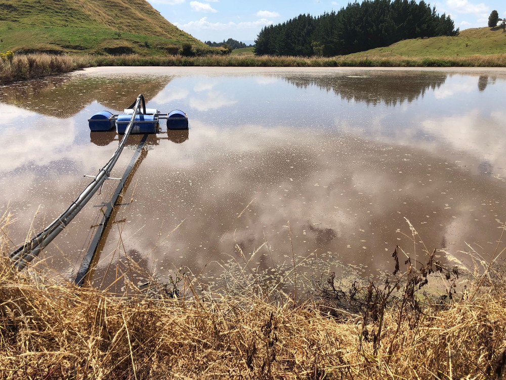 An effluent pond