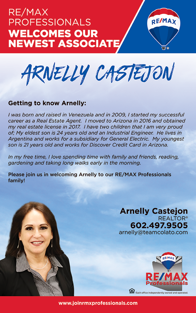 Welcome to RE/MAX Professionals Arnelly Castejon