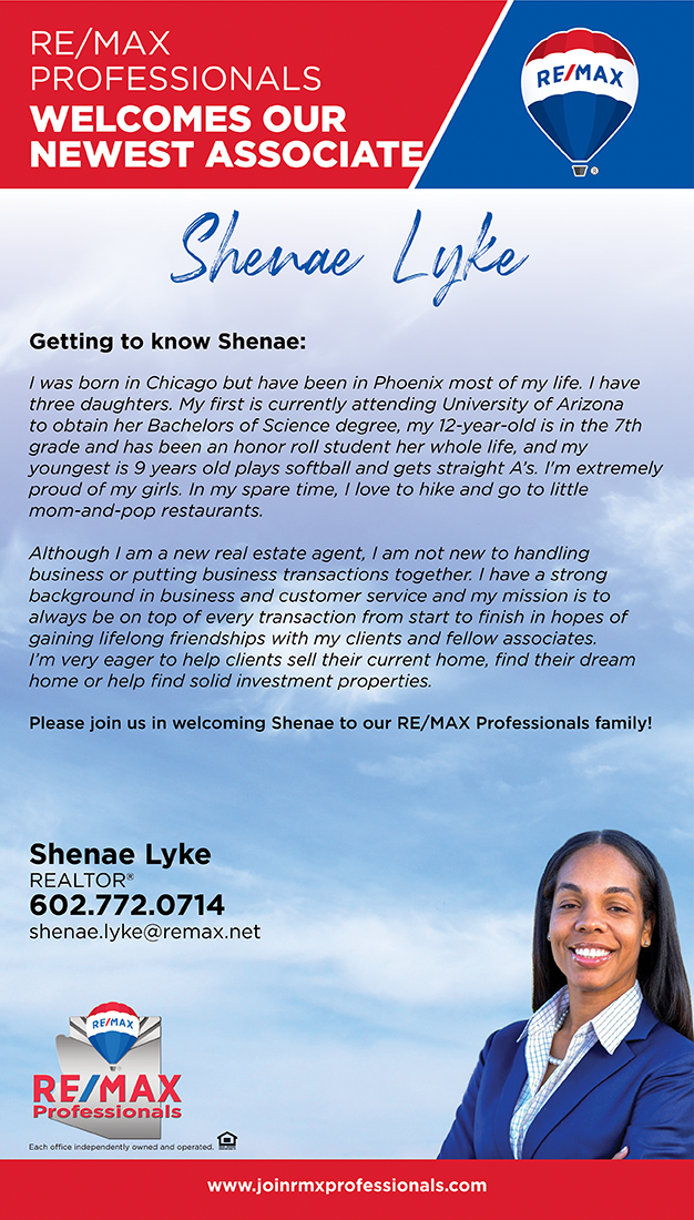 Welcome to RE/MAX Professionals Shenae Lyke