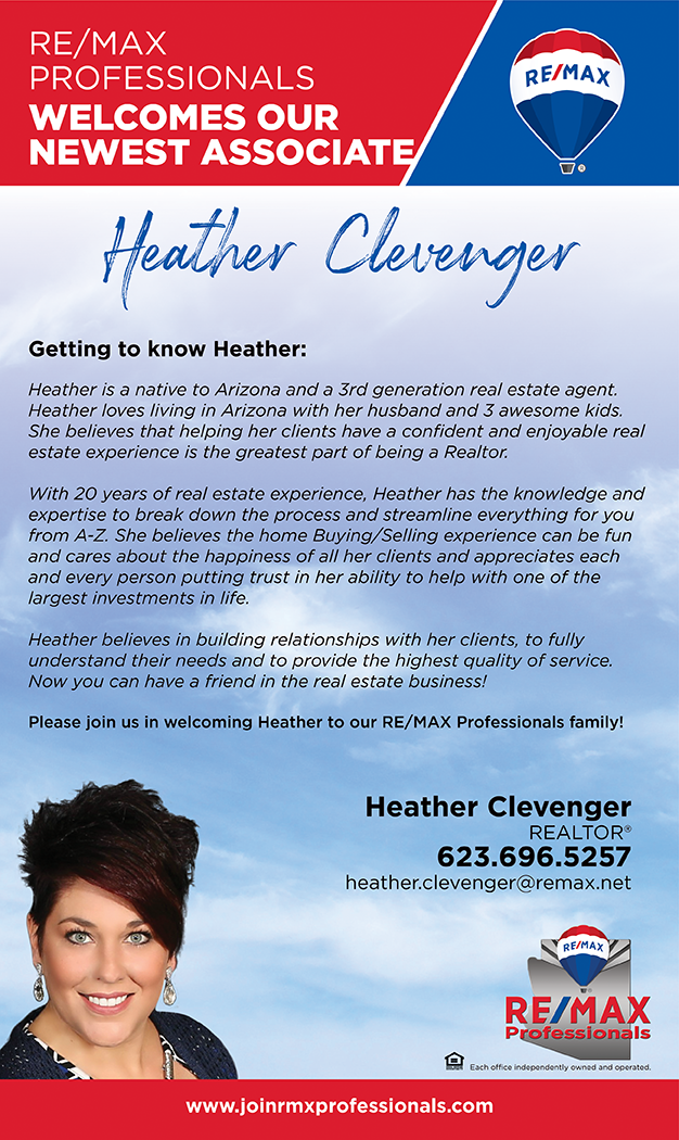 Welcome to RE/MAX Professionals Heather Clevenger