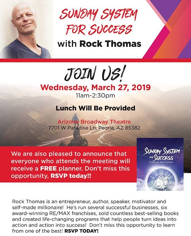 Nate's Monday Morning Message - You are invited to see Rock Thomas!