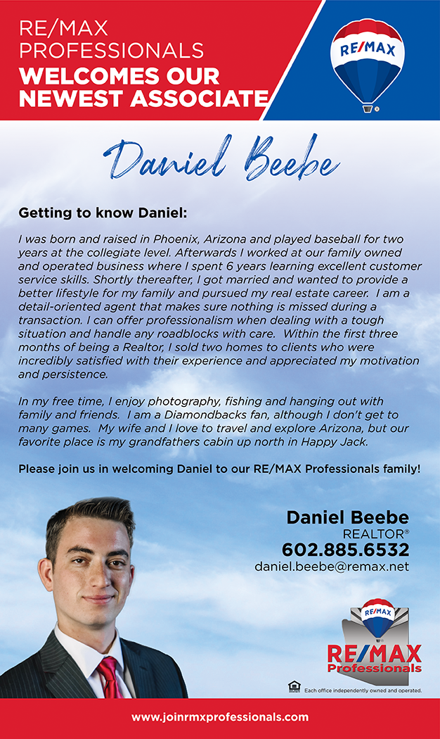 Welcome to RE/MAX Professionals Daniel Beebe