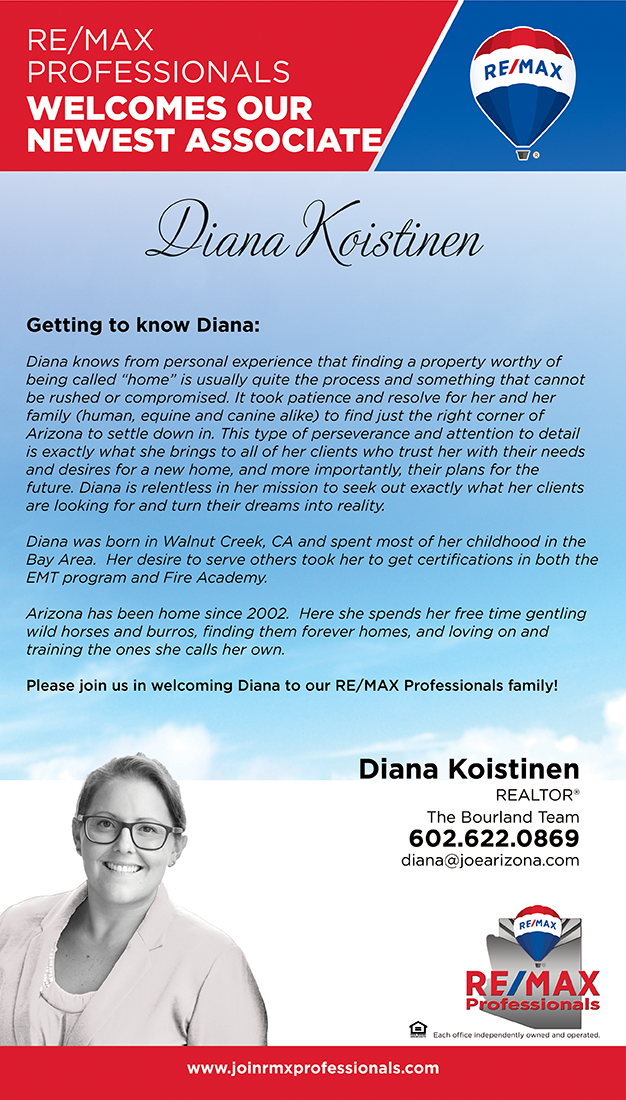 Welcome to RE/MAX Professionals Diana Koistinen