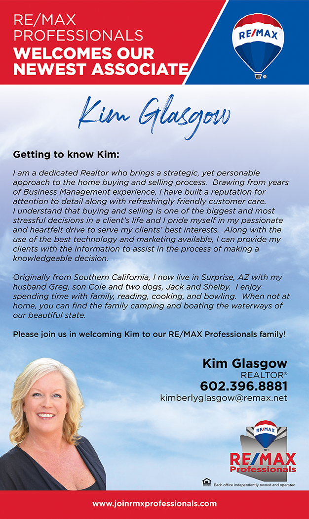 Welcome to RE/MAX Professionals Kim Glasgow