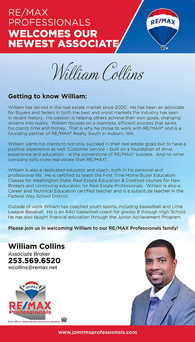 Welcome to RE/MAX Professionals William Collins