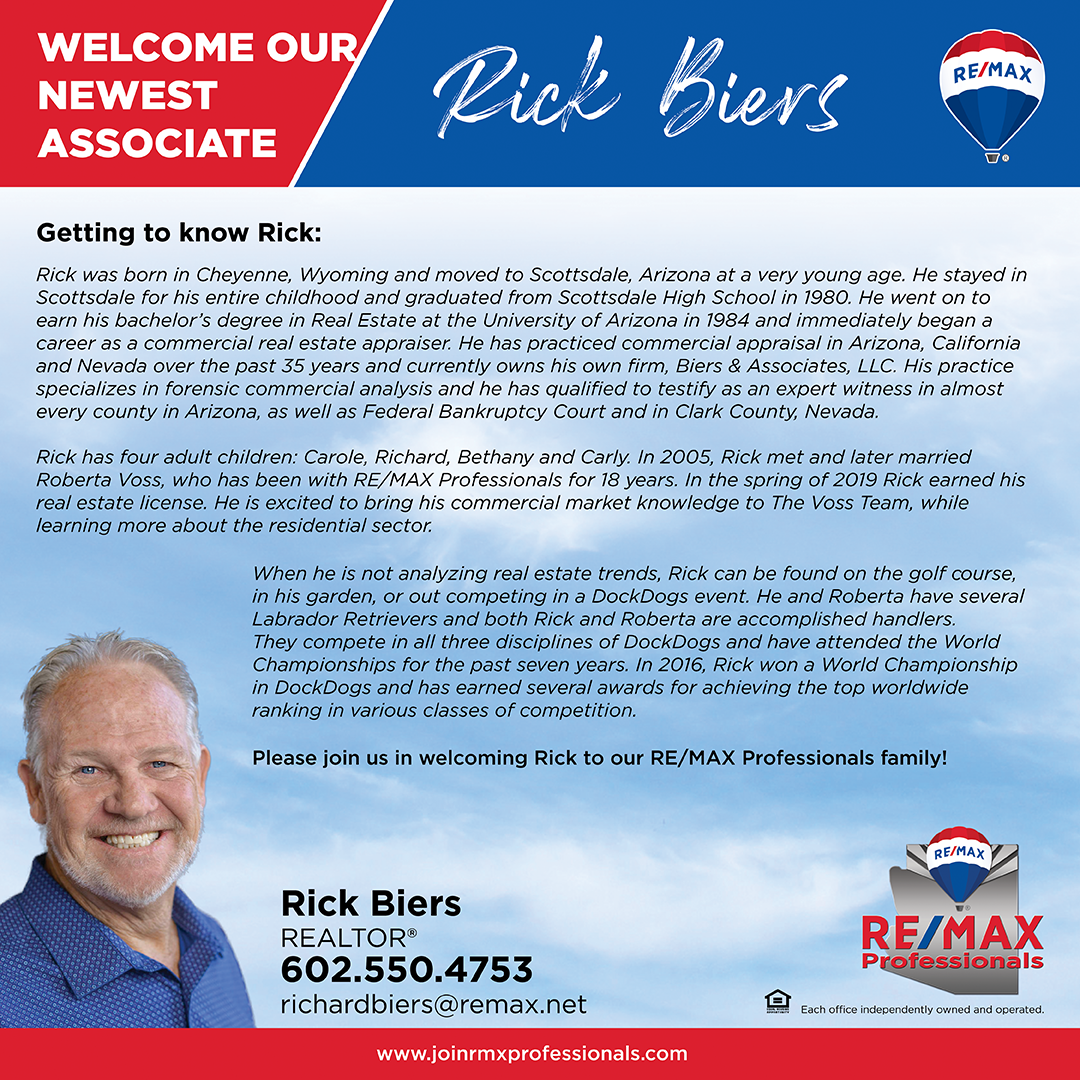 Welcome to RE/MAX Professionals Rick Biers