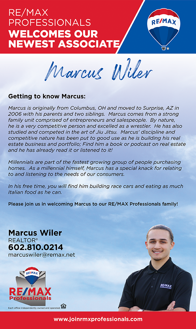 Welcome to RE/MAX Professionals Marcus!