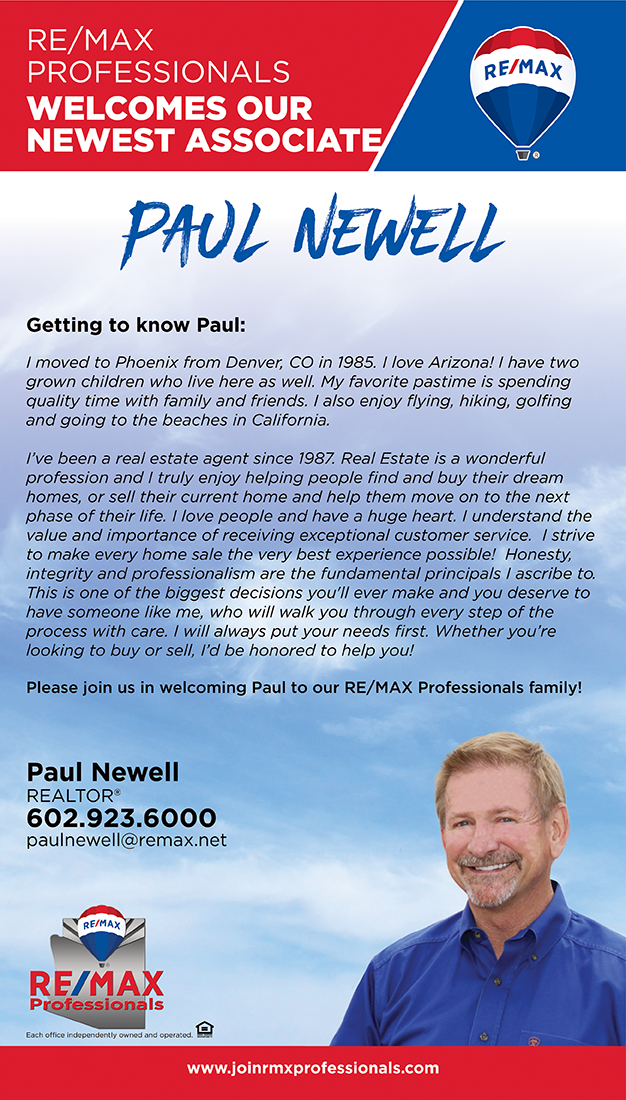 Welcome to RE/MAX Professionals Paul Newell