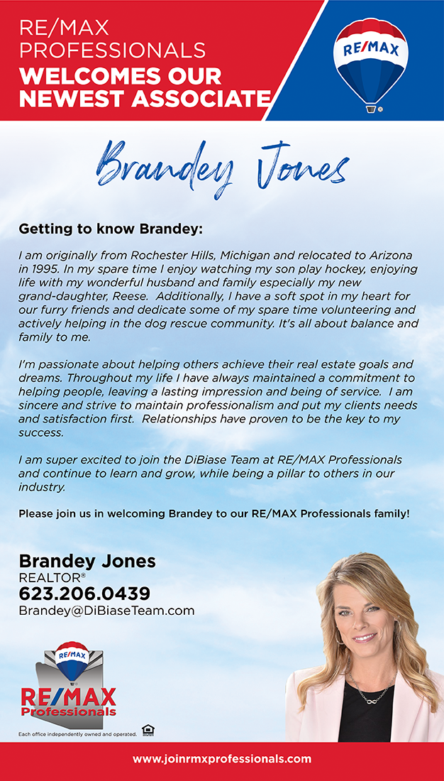 Welcome to RE/MAX Professionals, Brandey Jones