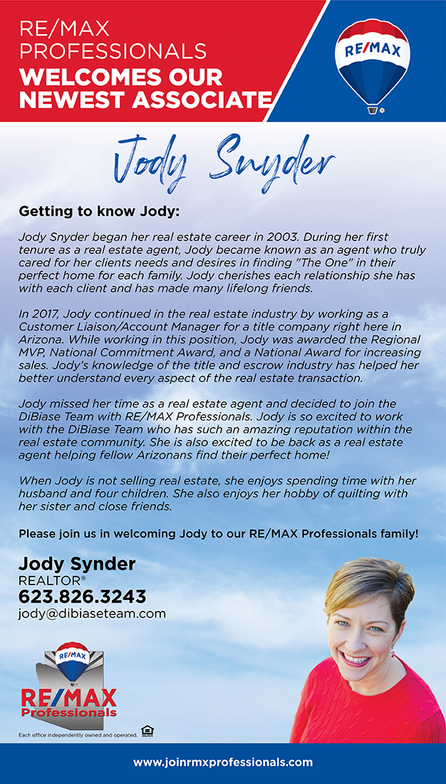Welcome to RE/MAX Professionals Jody Snyder