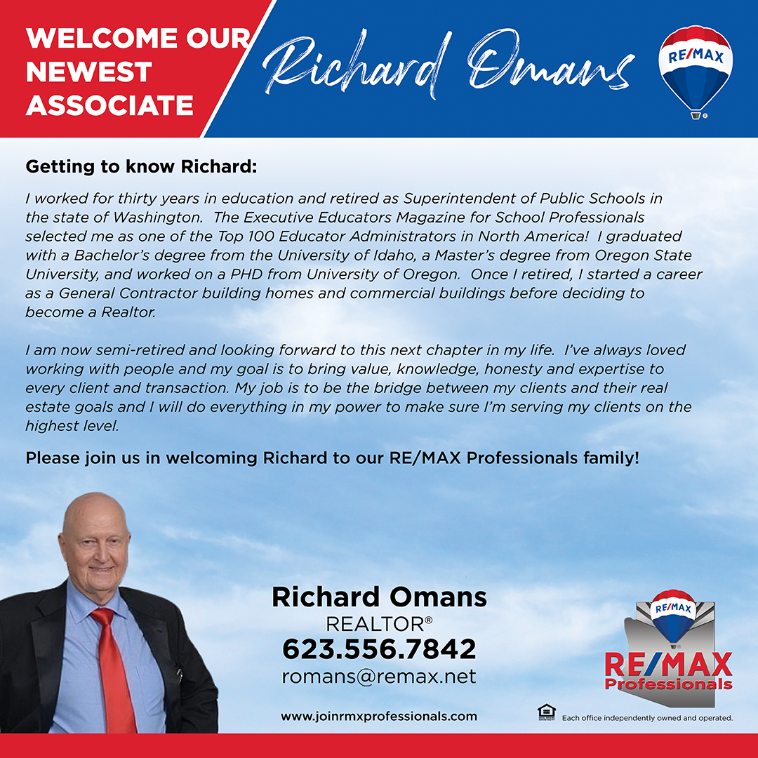 Welcome to RE/MAX Professionals Richard Omans