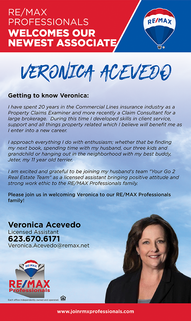 Welcome to RE/MAX Professionals Veronica Acevedo