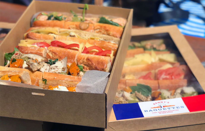 Benny's Baguettes Catering Boxes