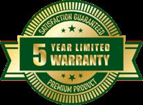 Polytek of Rochester - 5-Year Limited Lifetime Warranty