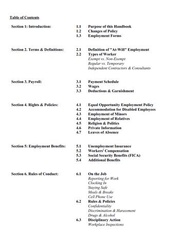 View Free Employee Handbook