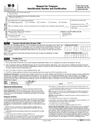 View Free Form W-9