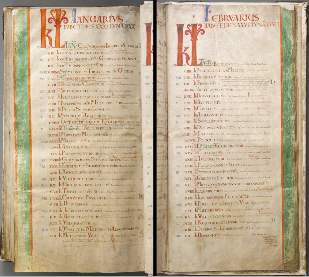 the calendar in the codex gigas