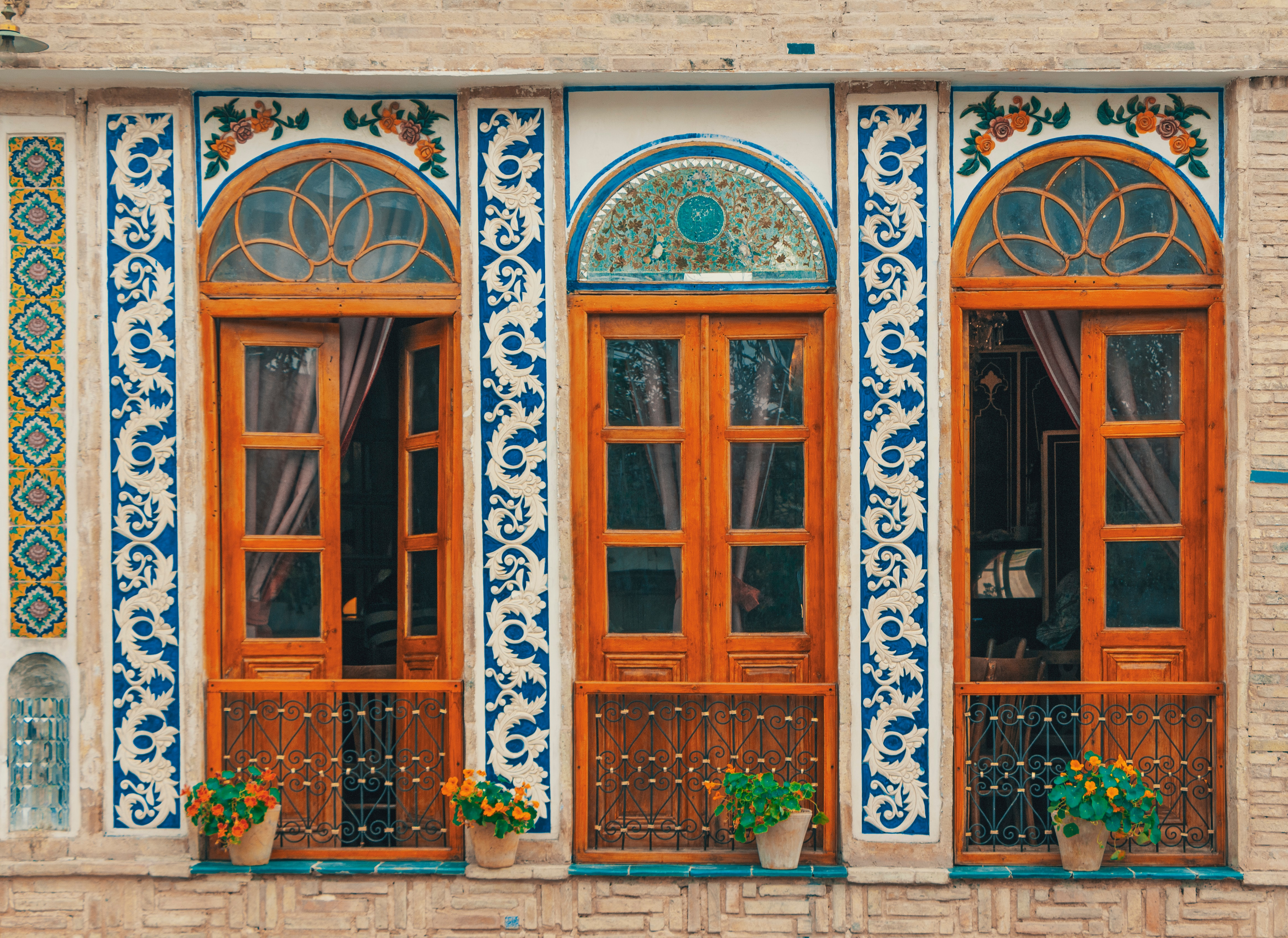 mosaic-covered doors in iran