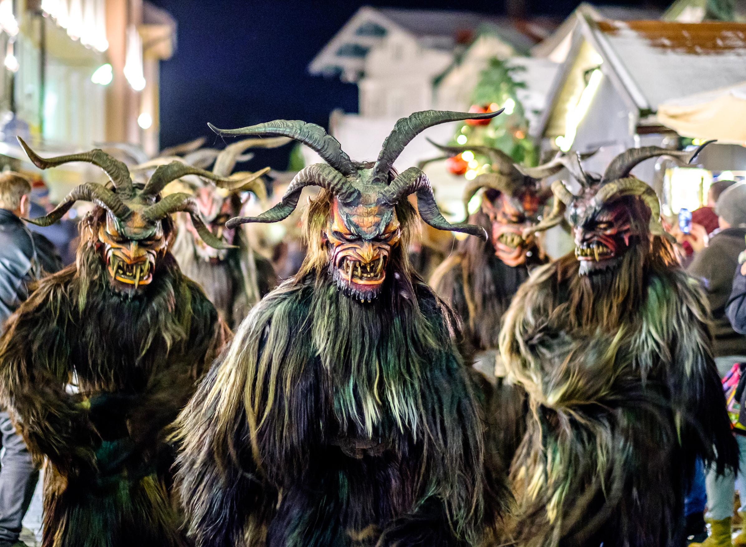krampus parade at night in Germany