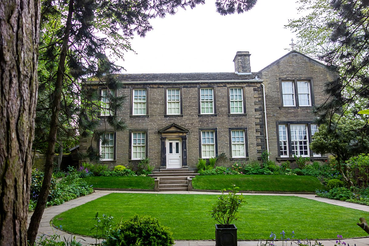 the bronte parsonage building in haworth, uk