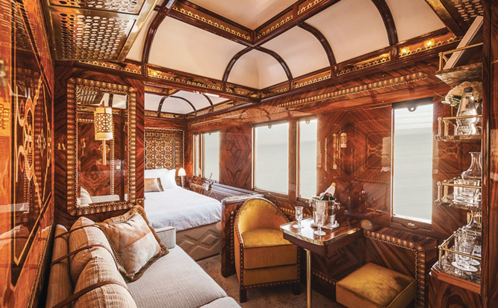 a room on the Venice Simplon-Orient-Express