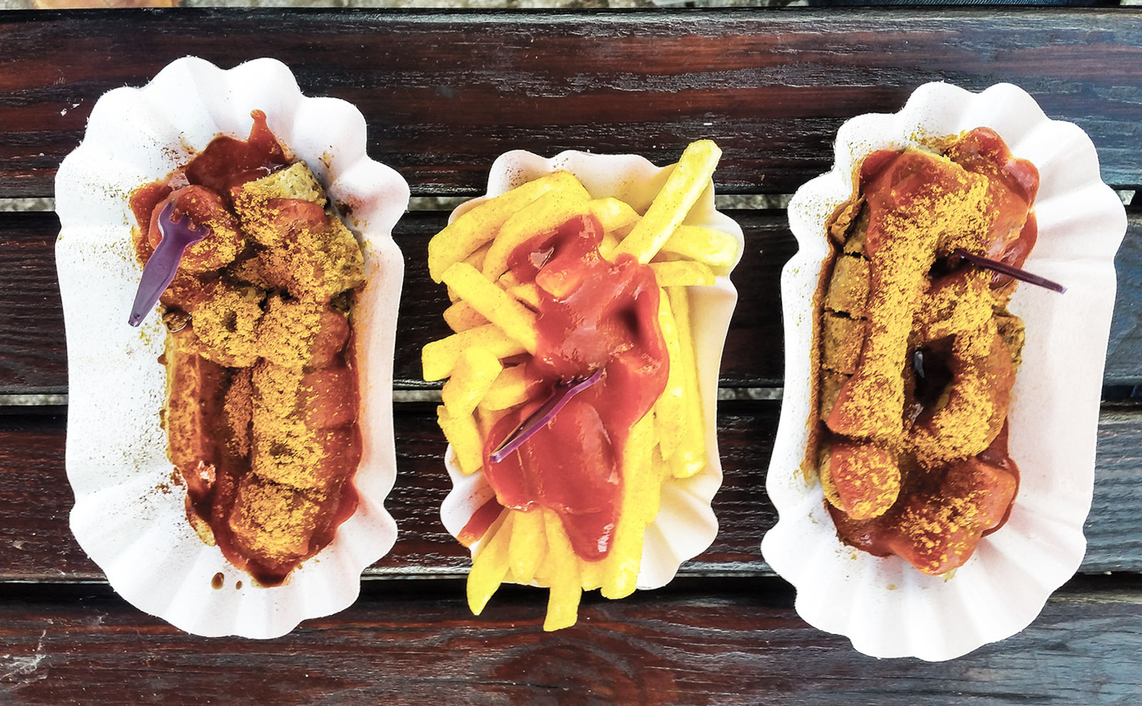 currywurst and french fries