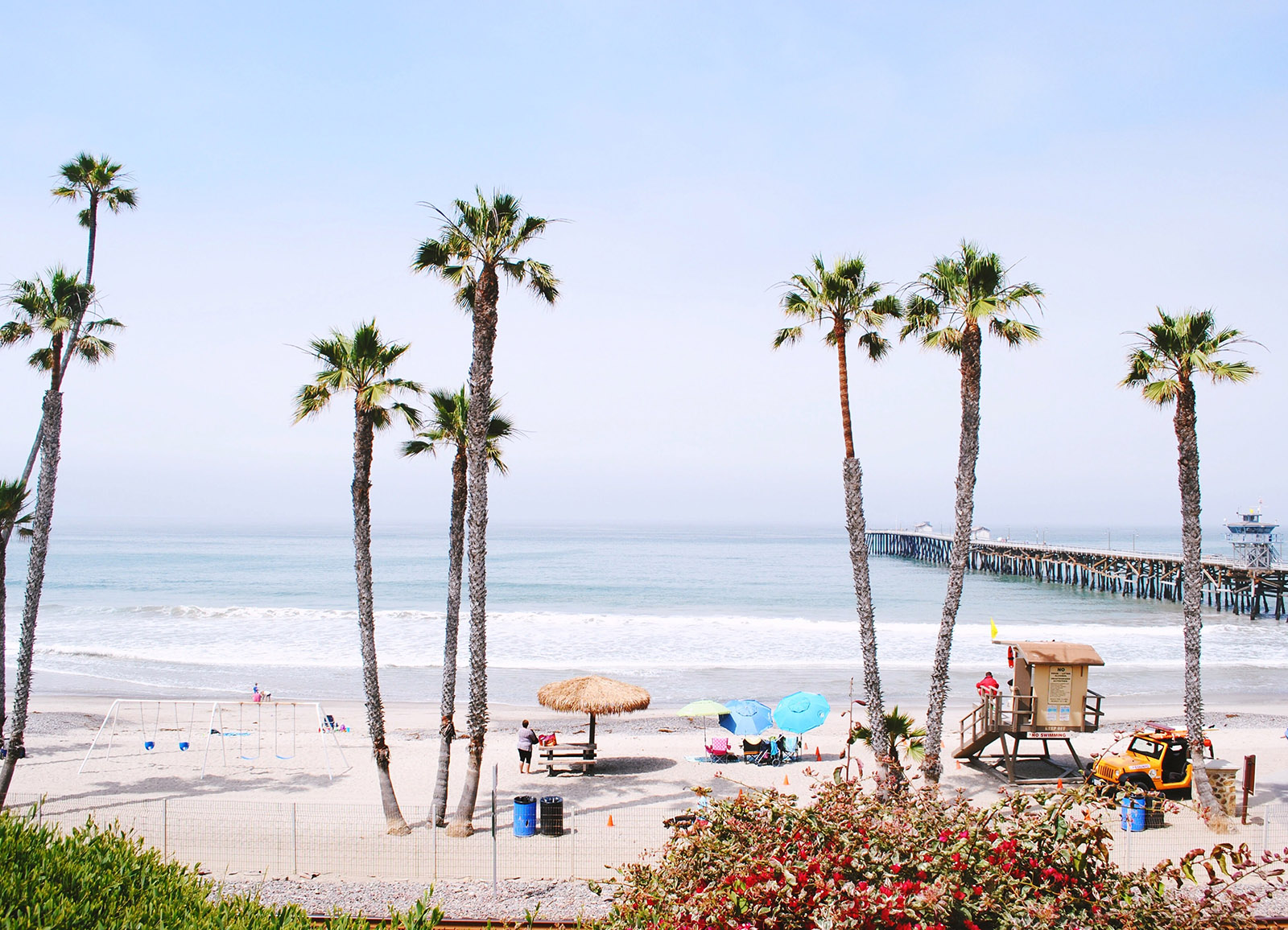 the pier on san clemente beach in southern california