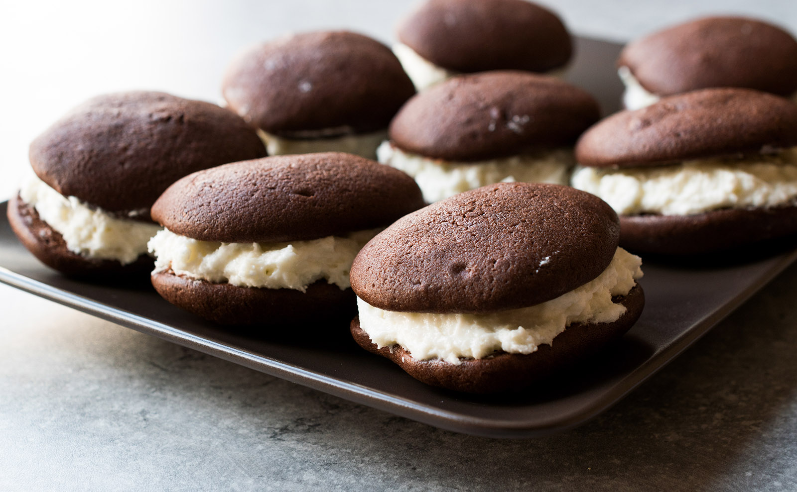 whoopie pies on a serving plate