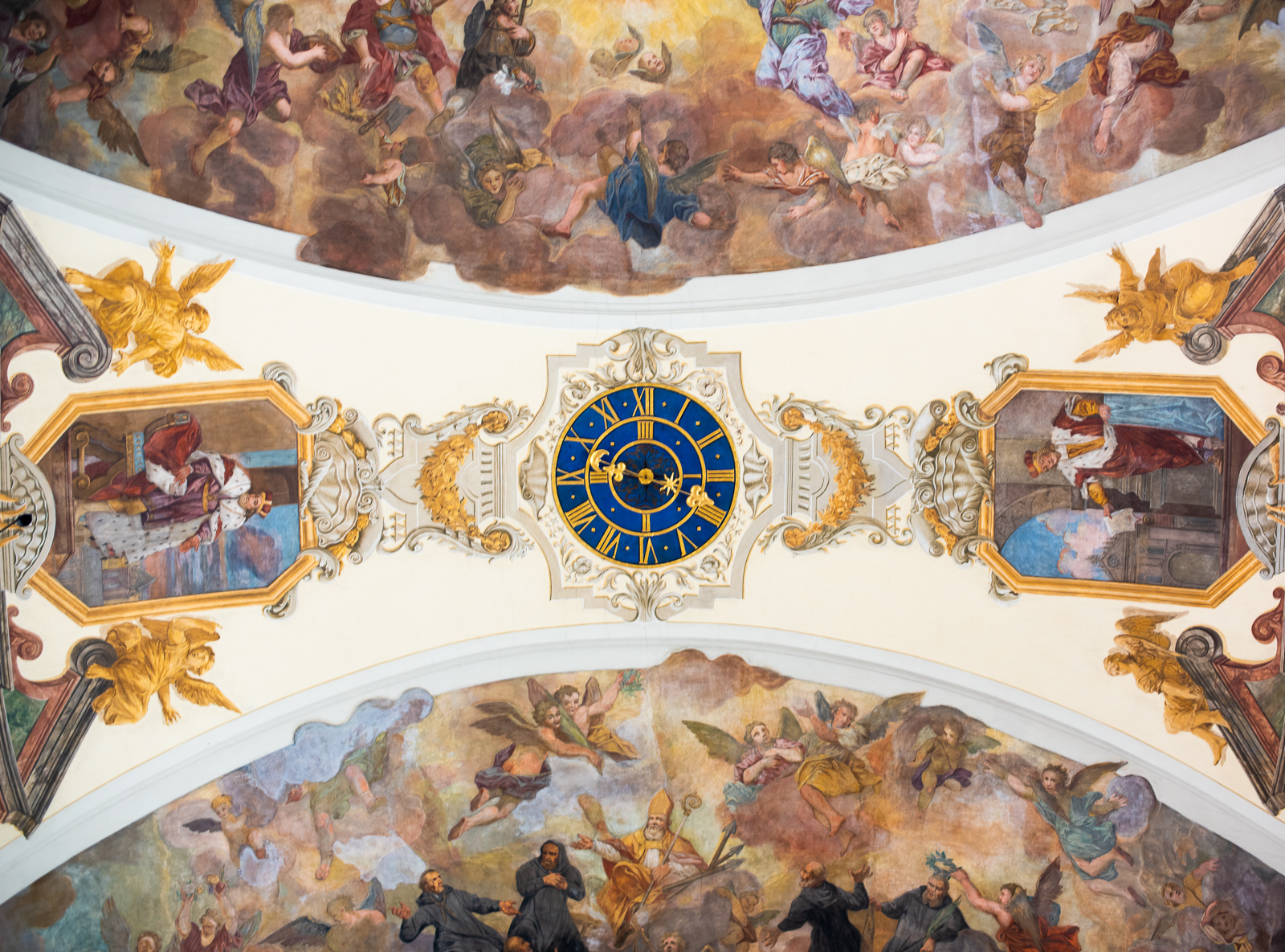ceiling fresco in the monastery