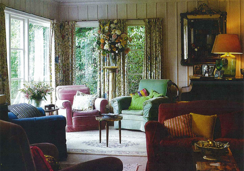 the long room in ngaio marsh's house with green easy chair where she wrote her books