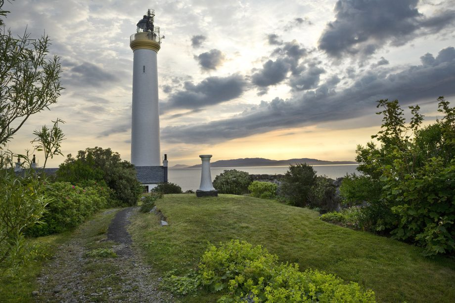 ruvaal lighthouse in scotland