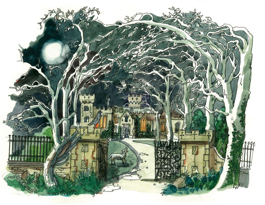 illustration of baskerville hall