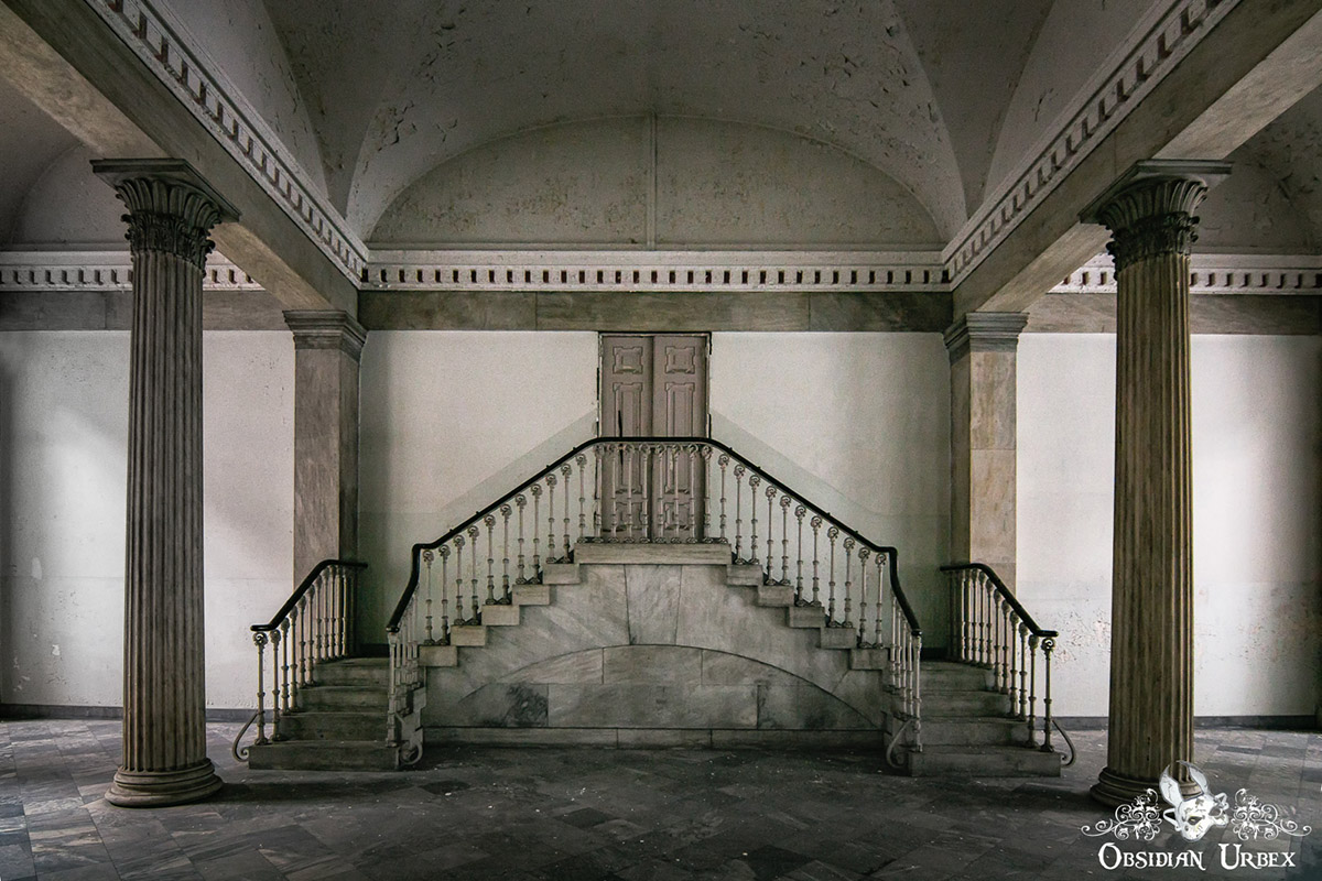 abandoned marble staircases
